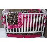 Custom Made Baby Crib Nursery Bedding Max 4 HD Camo hot pink
