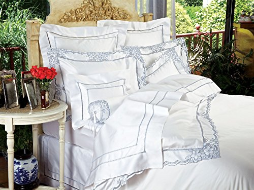 Satin Caprice - Caprice Flat Sheets, Blue (Full/Queen, each)