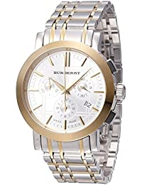 493e07c39a6 Mens Watch Burberry BU1374 Two Tone Stainless Steel Case and Bracelet White  Dia
