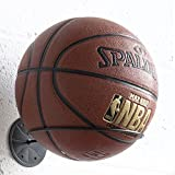 WALLNITURE Wall Mount Sports Ball Holder Display Storage Rack Steel Black