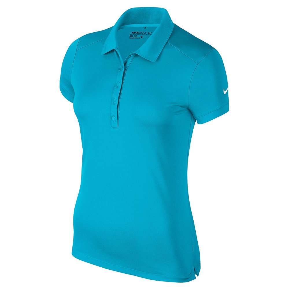 Nike Victory Solid Golf Polo 2017 Women Light Blue Fury/White Large by Nike