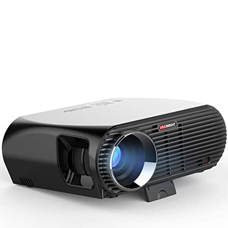 JHSHENGSHI Proyector, 1080P DLP Video proyector Full HD con 3500 ...