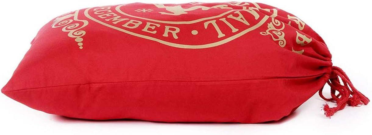 Rucoe Large Santa Sacchi,Sacchetti Regalo di Natale con Coulisse Extra Grandi riutilizzabili Sacchetti Regalo di Babbo Natale50 x 70 cm