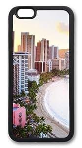 For HTC One M7 Case Cover For HTC One M7 Case Cover -Waikiki Beach Hawaii Hard shell pc Soft Case Back For HTC One M7 Case Cover Black