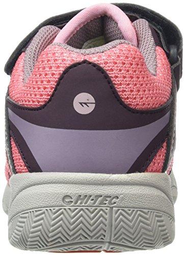 Hi-Tec Thunder Junior, Zapatillas de Deporte para Exterior para Niñas, Rosa (Plum/Blossom/Elderberry 090), 29 EU