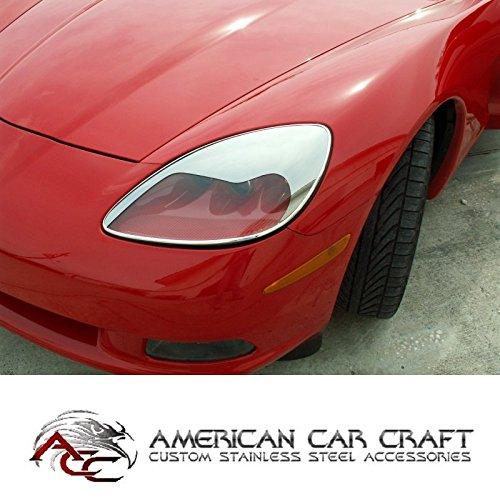 Corvette C6 Faro agresivo Cejas Kit cromo ABS compatible con: todos 05 A Través De 13 Corbetas: Amazon.es: Coche y moto