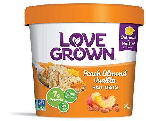 Love Peach (Love Grown Hot Oats, Peach Almond Vanilla, 2.22 Ounce (Pack of)