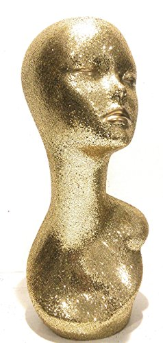 Gold Diamond Female Mannequin Glam Head