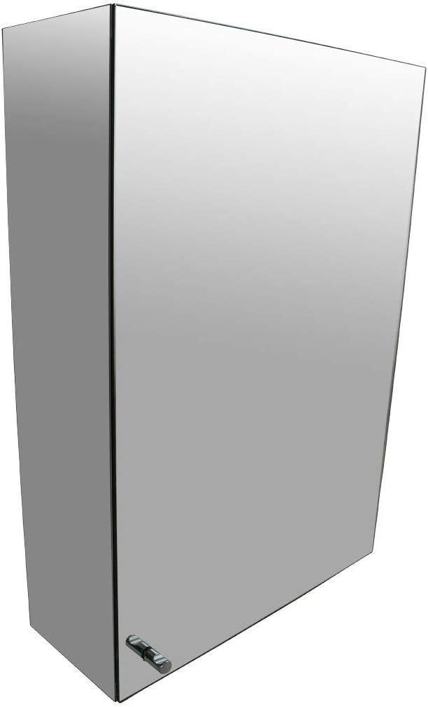Renovators Supply Manufacturing Stainless Steel Medicine Cabinet Storage Wall Mount Mirrored
