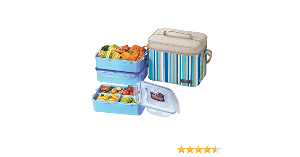 Lock /& Lock Slim Lunch Box with EcoBag BPA Free Food Containers with Leak Proof