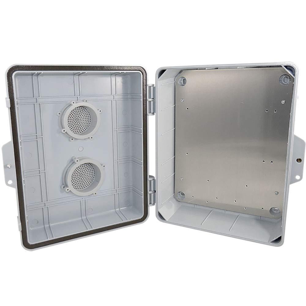 Altelix Vented NEMA Enclosure (12'' x 8'' x 3.2'' Inside Space) Polycarbonate + ABS Weatherproof NEMA Box with Aluminum Equipment Mounting Plate
