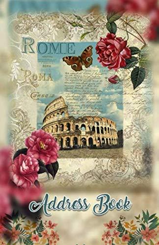 Address Book: Large Print Rome Italy 5.5 x 8.5