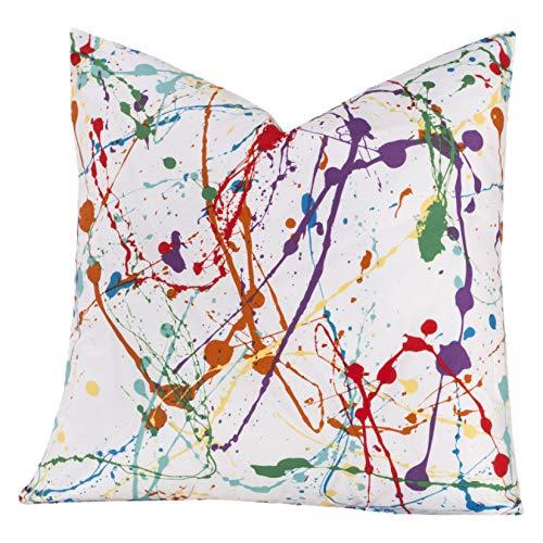 Crayola Splat Multicolored Polyester Decorative Throw Pillow 20 x ()