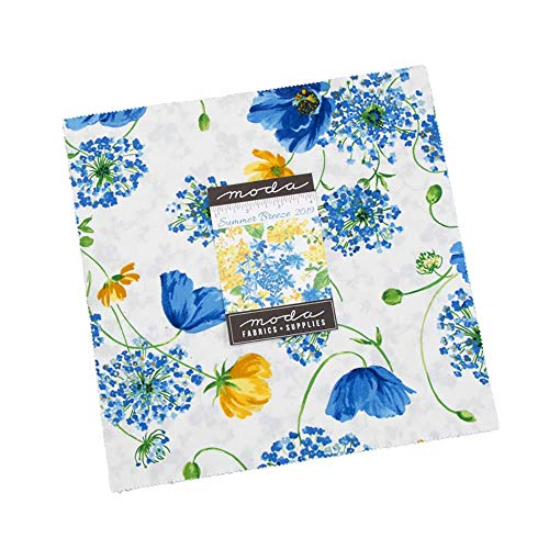 Summer Breeze 2019 Layer Cake, 42-10' Precut Fabric Quilt Squares by Moda...