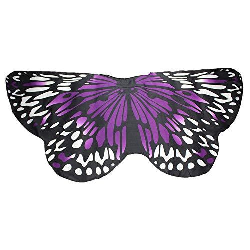 Butterfly Wing Cape Shawl Women Bohemian Butterfly Print