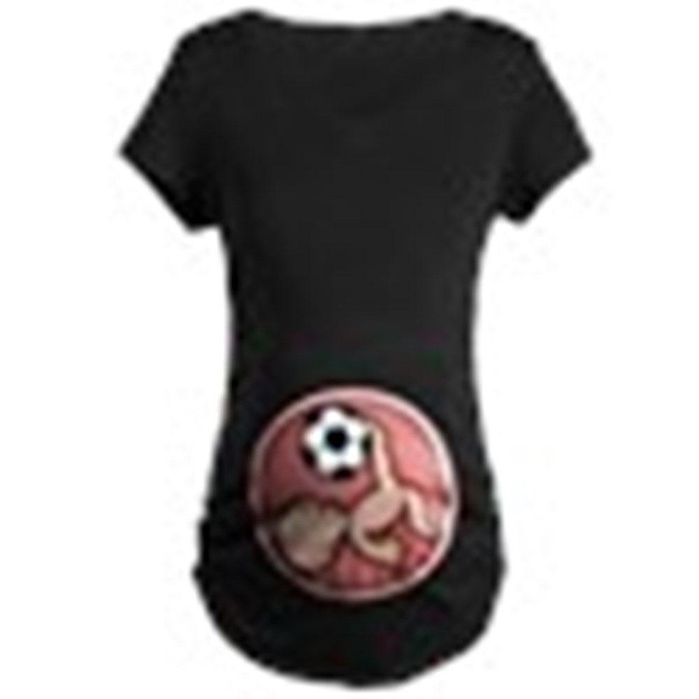 34098a7b Amazon.com: CafePress-Soccer Baby Kick Maternity Dark T-Shirt-Cotton  Maternity T-shirt, Cute & Funny Pregnancy Tee: Clothing