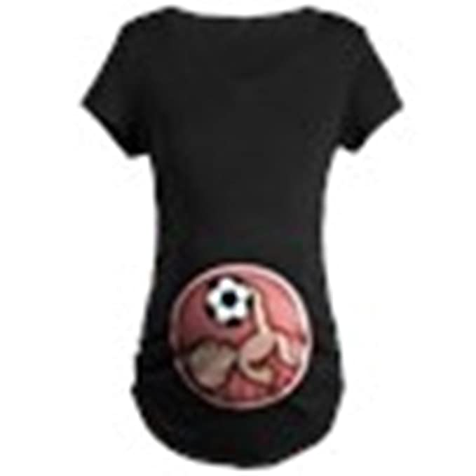 0d57cfa7f47 Amazon.com  CafePress-Soccer Baby Kick Maternity Dark T-Shirt-Cotton ...