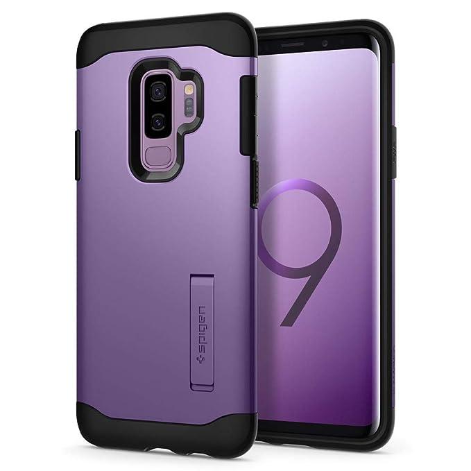 Spigen Coque Galaxy S9 Plus,  Slim Armor  Double Protection, Anti Choc   Violet Lilas  Air Cushion Renforcé, Resistant Coque Housse Etui pour Galaxy  S9+ ... 5ec0b56da1e1