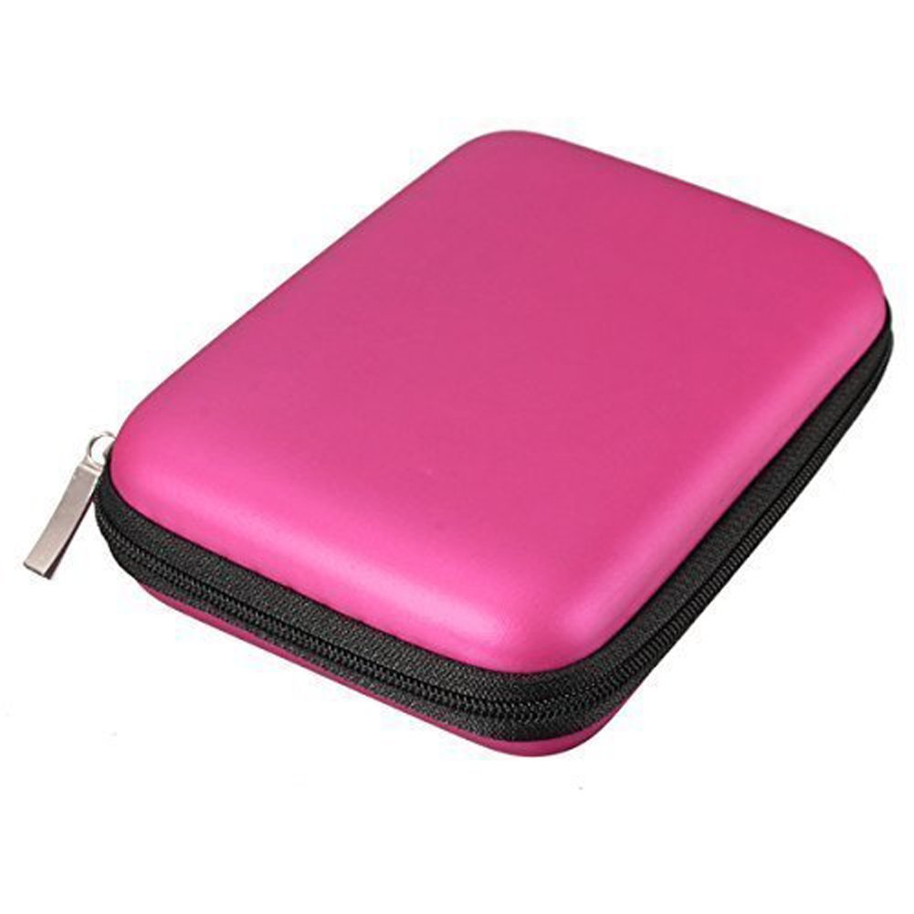 Hosaire Hard Drive Disk Case External EVA 2.5'' HDD Protective Case Cover Bag Pink