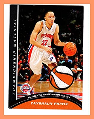 2009-10 Topps Championship Materials #CMTP Tayshaun Prince GAME USED JERSEY DETROIT PISTONS KENTUCKY WILDCATS