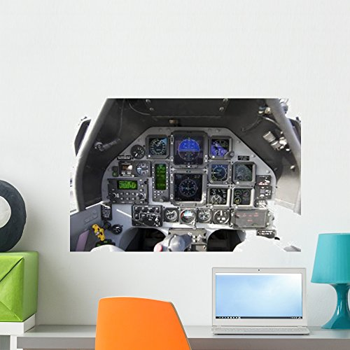 Interior Cockpit Iraqi Air Wall Mural by Wallmonkeys Peel and Stick Graphic (24 in W x 16 in H) WM86185