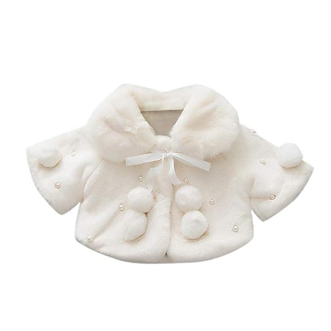 Abrigo de Felpa Niñas, LANSKIRT Bebés Niñas Otoño Abrigo de Invierno Chaqueta de Capa Ropa de Abrigo Gruesa: Amazon.es: Ropa y accesorios