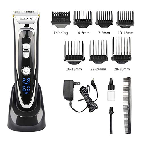 OOCOME Professional Hair Clippers Kit for Men Cordless Hair Clippers for Kids Rechargeable Hair Trimmer Cutting Kit Hair Removal Tool LED Display Hair Shaver Grooming Kit Barber Clippers Salon Razor