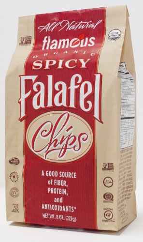 Flamous Organic Falafel Chips, Spicy, 8 Ounce Packages (Pack of 4) by Flamous Brands, Inc.