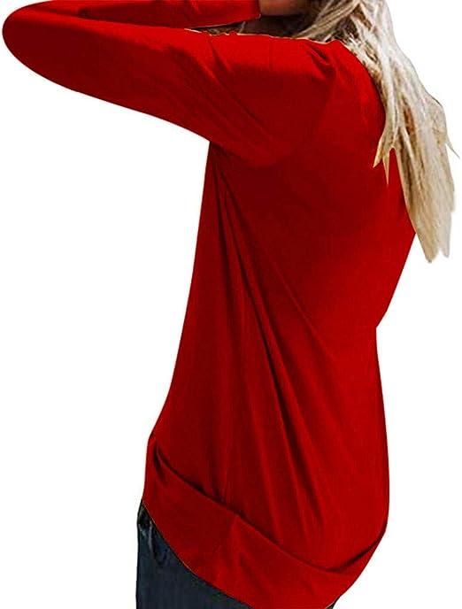 JiaMeng Mujer Camiseta Manga Larga Blusa Tops otoño Invierno ...
