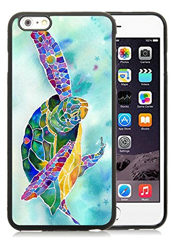 Sea Weed Sea Turtle Black for iPhone 6 Plus 6S Plus 5.5 Inch TPU Phone Case