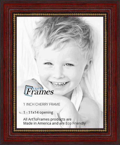 ArtToFrames WOM80801-CHY-11x14 Barnwood Wood Picture Frame, 11 x 14, Cherry