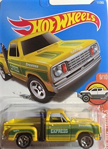 Hot Wheels Hot Trucks 7/10 1978 Dodge Li'l Red Express Truck (yellow) 1978 Dodge Lil Red Express Truck