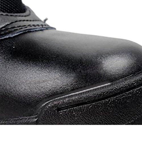 Deylaying Tácticas 7inch policía Patrulla Desierto Negro ejército Selva cadete Botas Zapatos de Cuero Combate Lateral Trabajo Cremallera Militares de de SXwBqSr