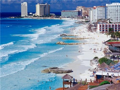 CANCUN MEXICO SKYLINE GLOSSY POSTER PICTURE PHOTO riviera maya resort ocean