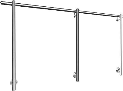 Libre Conjunto de pasamanos de acero inoxidable, vorgeschraubt pie con lateral vorgesetztem portador plancha: Amazon.es: Bricolaje y herramientas