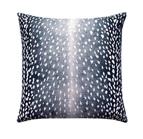 Animal Pillow Cover Fawn Pillow Cover Deer Pillow Antelope Linen Pillow Cover Navy White Designer Linen Pillow Animal Print Pillow