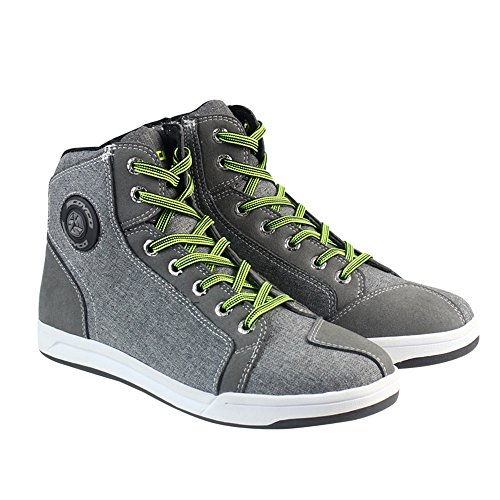 Motorcycle Shoes Men Streetbike Casual Accessories Breathable Protective Gear Powersport Anti-slip Footwear 10 by IRON JIA'S