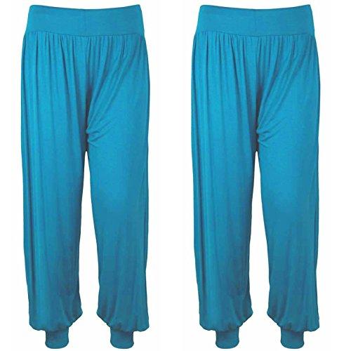 Harem - Pantalón - para mujer 2x Turquoise