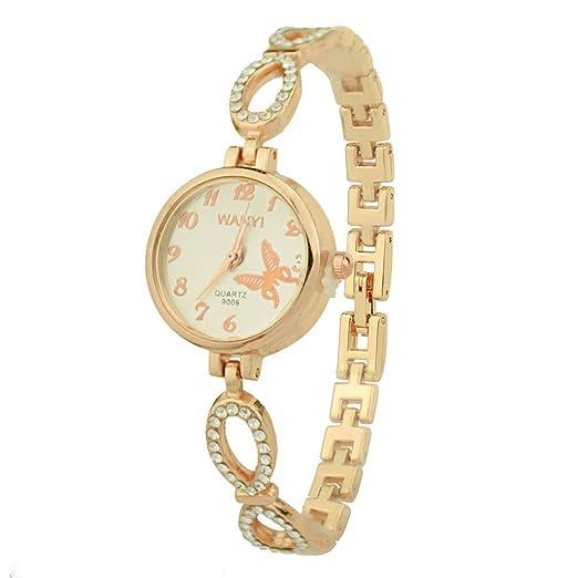 BBestseller Moda Relojes de Pulsera para Mujeres Reloj Pulsera de Diamantes Completo Pulseras Actividad Watch (