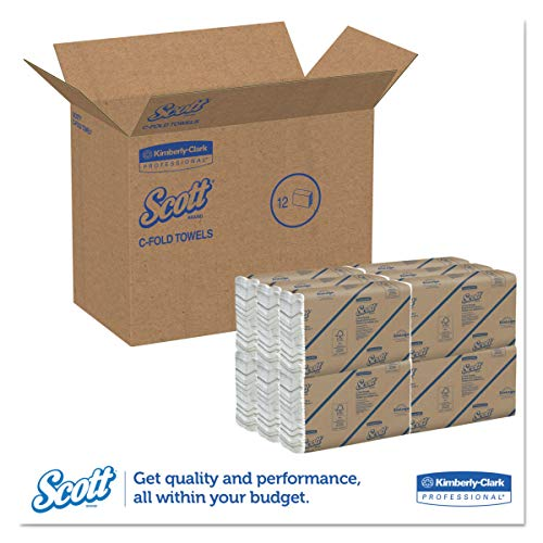Scott 02920 CFold Paper Towels 100 Recycled 10 110 x 13 15 200 per Pack Case of 12 Packs