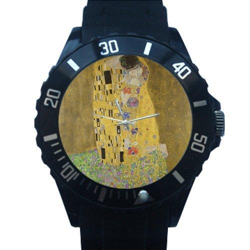 100% Plastic Quartz Watch The Kiss by Gustav Klimt Giclee Printed Plastic High Quality -