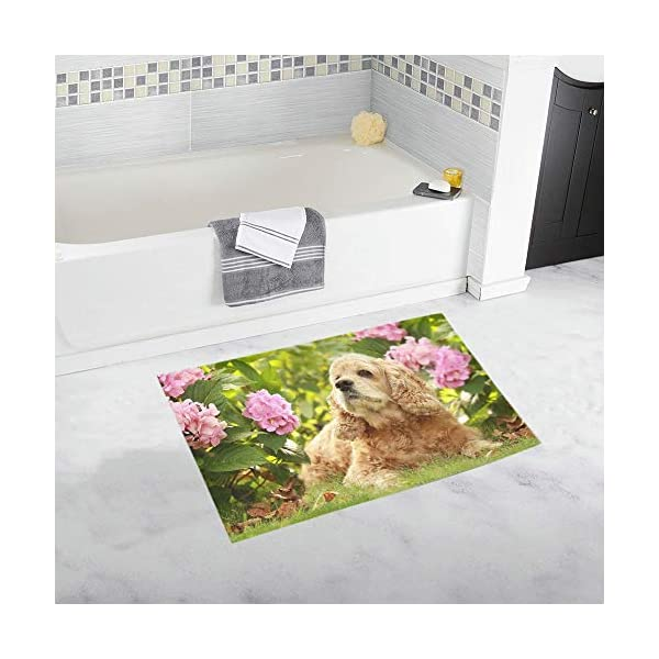 Red Dog Breed English Cocker Spaniel Custom Non-Slip Bath Mat Rug Bath Doormat Floor Rug for Bathroom 20 X 32 Inch 1