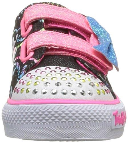 Noir Double Shuffles Adore fille Baskets mode Skechers Bkmt W1BYawqw