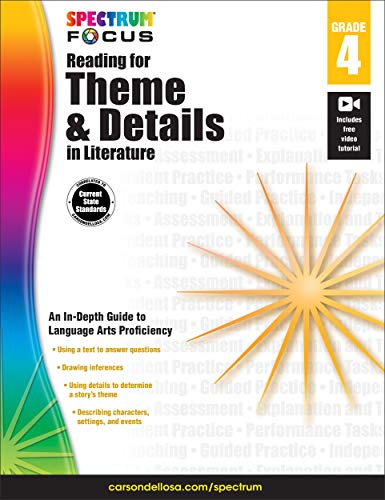 Spectrum Reading for Theme and Details in Literature, Grade 4 (Spectrum -