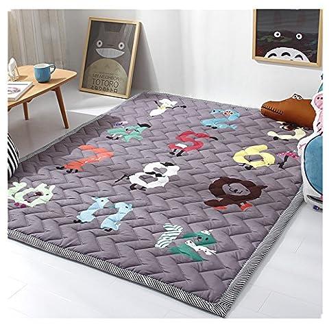 Kids Teepee Mat Children Antiskid Play Mat Baby Crawling Mat Non-slip thicken Carpet(55''X76'') (Digital Games) - Bene Carpet