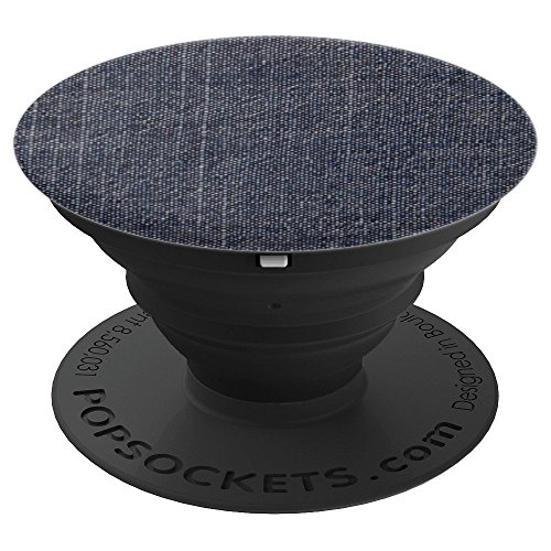 Blue Denim Selvedge Jeans / Jacket / Shirt / Dress / Skirt - PopSockets Grip and Stand for Phones and Tablets