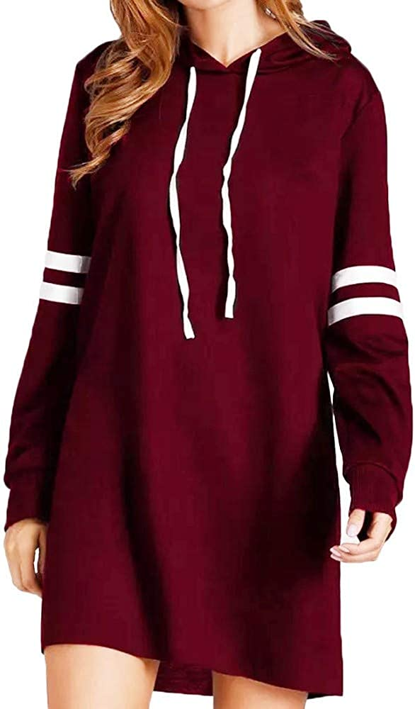 Womens Sweatshirt Dress Long Sleeve Rose Embroidered Casual Loose Mini Dress for Ladies Teen Girls Fashion Pullover Dress Tunics Long T-Shirt Blouse Jumpers Evening Party Dress Cocktail