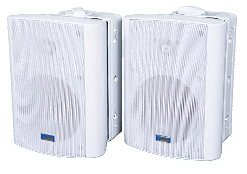 TIC ASP60-W 5″ Outdoor Weather-Resistant Patio Speakers with 70v Switch (Pair) – White