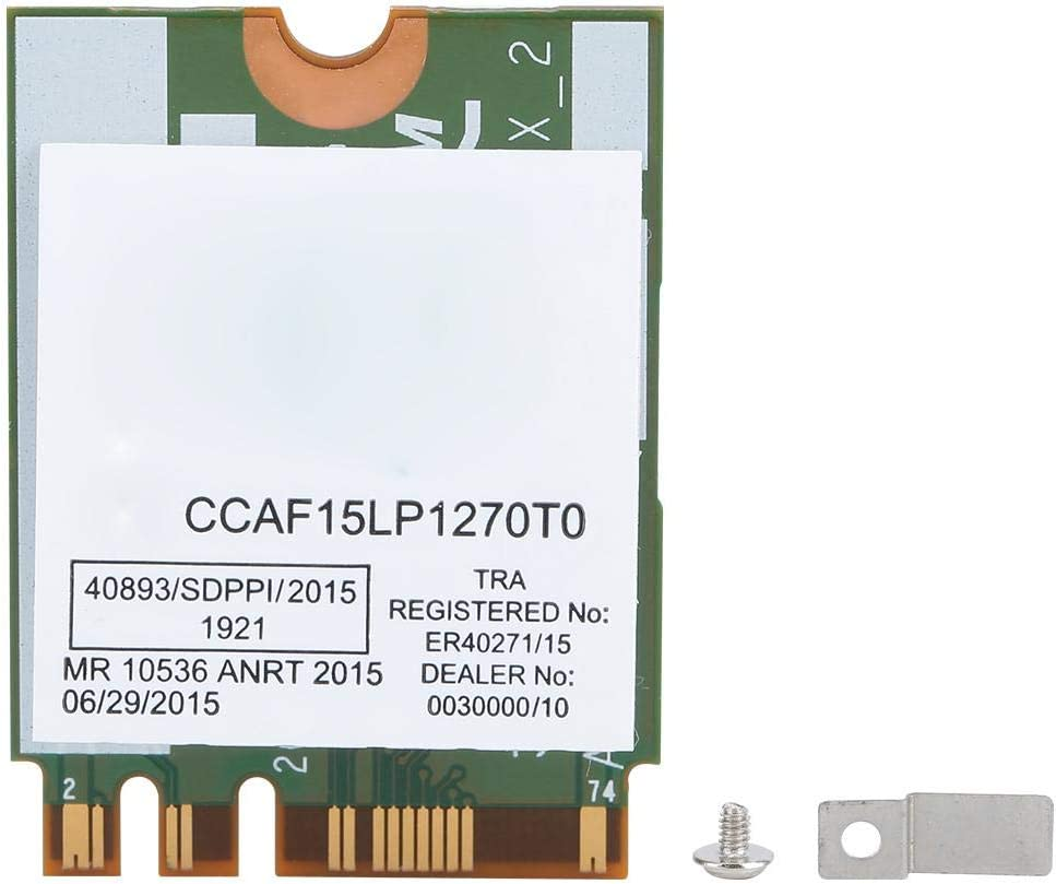 ASHATA Dual Band Network Card Dual-Band Wireless Network Card with Bluetooth 4.1 For Broadcom DW1820A BCM94350ZAE 8PKF4,NGFF M.2 Wireless Wifi Card for WIN7//WIN8//WIN10//Hackintosh//MAC OS system