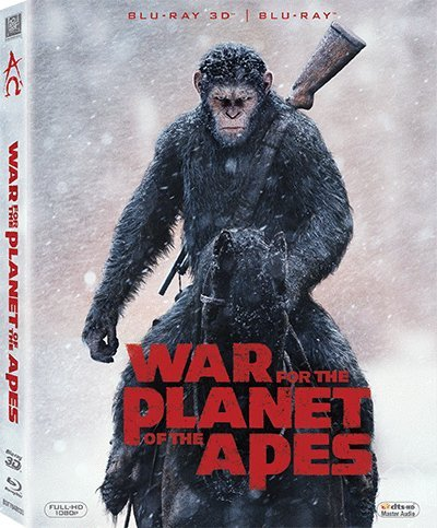 War For The Planet Of The Apes 2D + 3D (Region A Blu-ray) (Hong Kong version / Chinese subtitled) 猿人爭霸戰: 猩凶巨戰 (War For The Planet Of The Apes 3d)